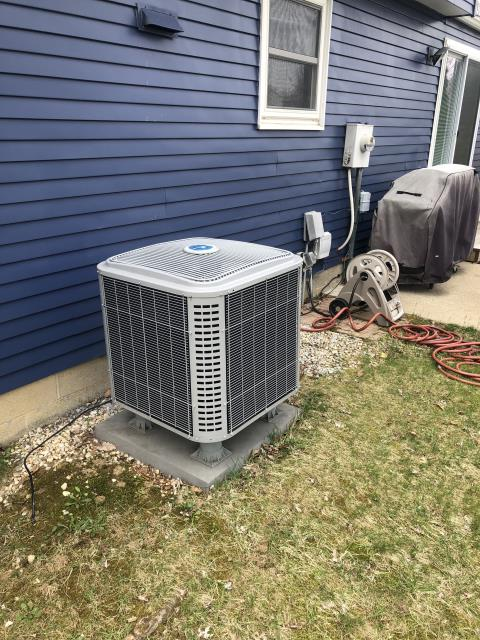 Westerville, OH - I replaced the motor surge capacitor on the compressor in the heat pump. System is operational upon departure.