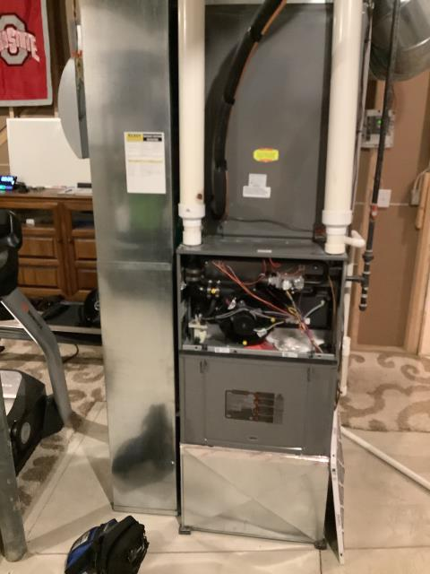 Blacklick, OH - I found the system is lacking air flow and provided the customer with some options of what they could do as well as changes we could make to the system. I also provided a quote for an I wave air purifier after the customer asked for one. System is operational upon departure.