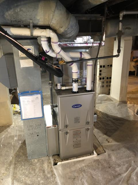 Westerville, OH - I installed a Carrier 96% 60,000 BTU Gas Furnace and a Carrier 16 SEER 3 Ton Air Conditioner