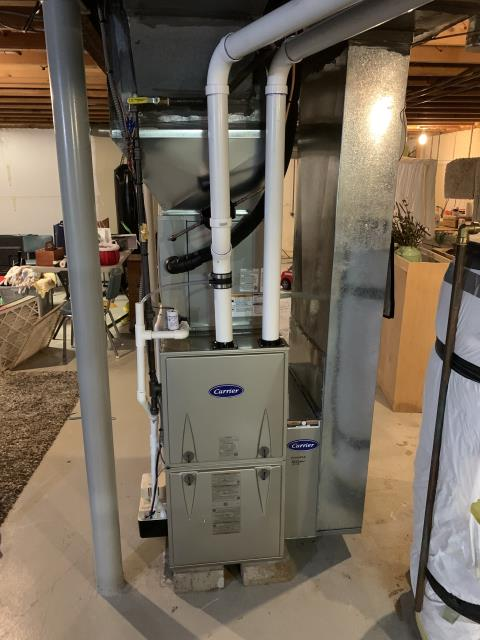 Galena, OH - I installed a Carrier 96% 60,000 BTU Gas Furnace and a Carrier 16 SEER 2.5 Ton Heat Pump