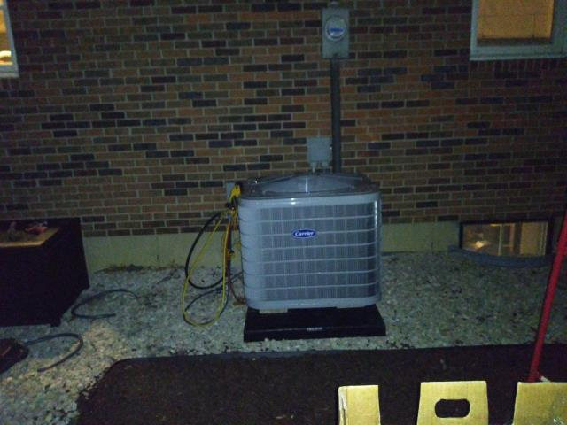 Galena, OH - I installed a Carrier 16 SEER 2.5 Ton Heat Pump to replace the heat pump that was faulty from the manufacturer. System is operational upon departure.