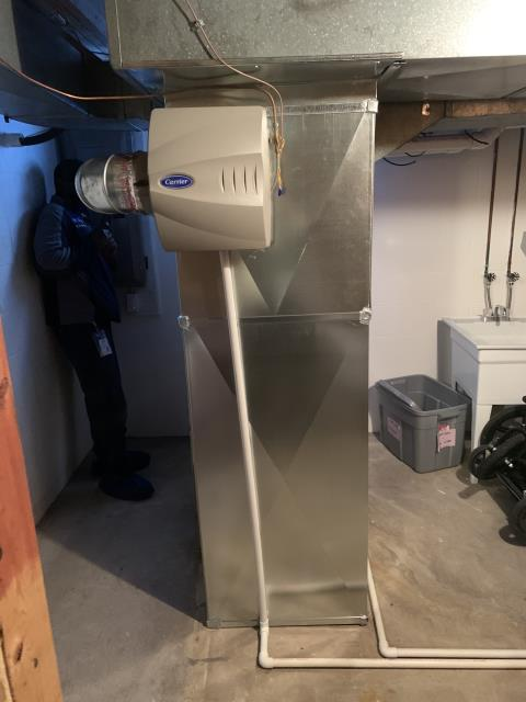 Worthington, OH - I installed a Carrier 96% Two-Stage Gas Furnace with an Infinity Communicating Thermostat. Everything is working within manufacturers specifications at this time.