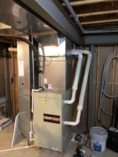 New Albany, OH - I installed a Carrier 96% Two-Stage 80,000 BTU Gas Furnace and reconnected the humidifier. Everything is working within manufacturers specifications at this time.