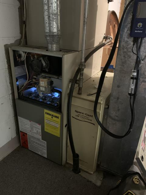 Hilliard, OH - I replaced the ignitor and the furnace still would not kick on. I adjusted some of the wiring on the control board and the system kicked on. After informing customer and going over options, they have opted to install a new system.