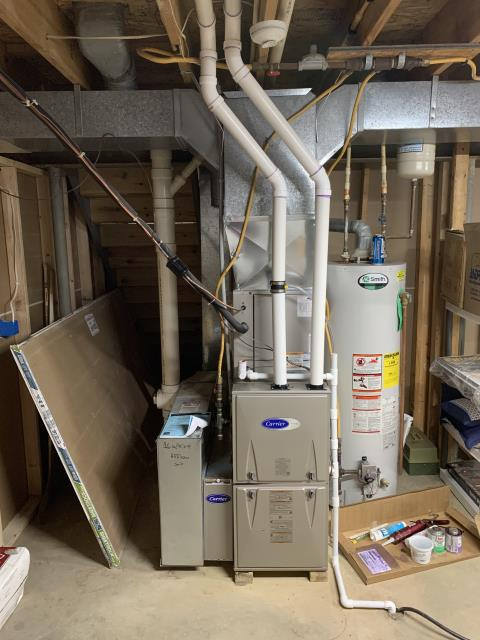 Powell, OH -  I installed a Carrier 96% Two-Stage 60,000 BTU Gas Furnace. I cycled the unit to ensure everything was working properly. System is operational upon departure.