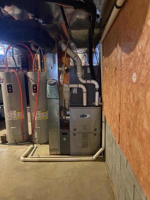 Dublin, OH - I installed a Carrier 96% Two-Stage 80,000 BTU Gas Furnace. I cycled the system to make sure everything was working properly. System is operational upon departure.