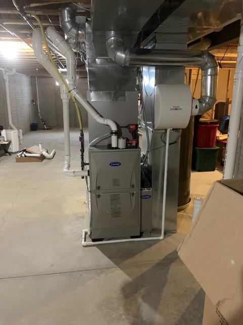 Canal Winchester, OH - I installed a Carrier 96% 100,000 BTU Gas Furnace. I cycled the system to ensure everything is functioning as it should be. System is operational upon departure.