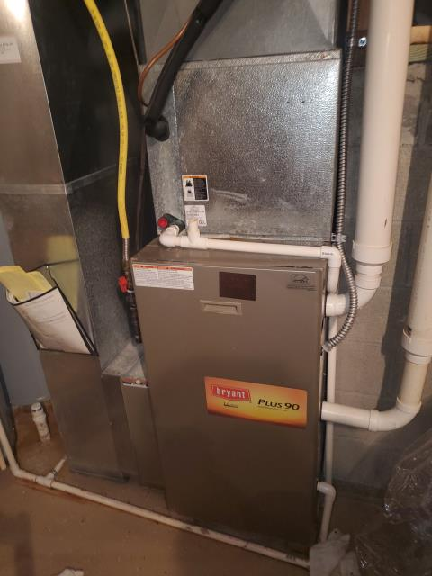 Blacklick, OH - Upon inspection, I found the condensate trap was clogged. I drained over a gallon of water out of the secondary and cleaned the trap out. I installed the trap and cycled the system. System is operational upon departure.