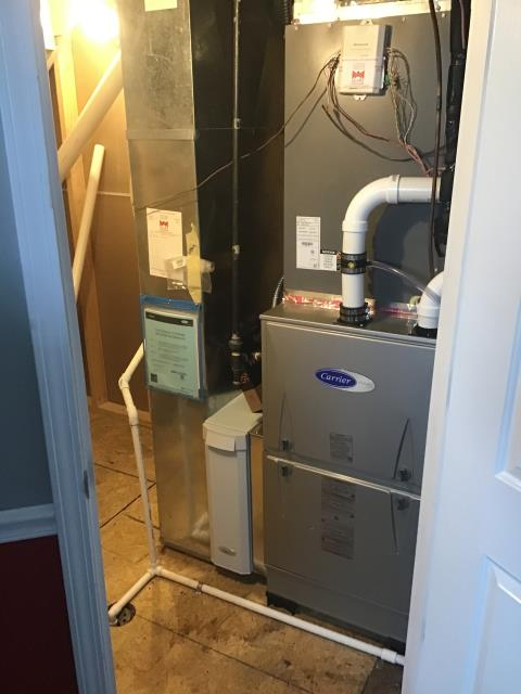 Hilliard, OH - I performed an installation inspection on a Carrier gas furnace. Everything checked out within specs. System is operational upon departure.