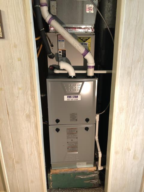 Powell, OH - I installed 2 inch PVC pipe to run the exhaust of the furnace up to the roof and out. I cycled the system to ensure everything worked properly and there were no leaks in the pipe. System is safe and operational upon departure.