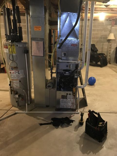 New Albany, OH - I installed a Carrier 96% 80,000 BTU Gas Furnace and a Carrier 13 SEER 3.5 Ton Air Conditioner. I cycled the system to ensure functionality. System is operational upon departure.