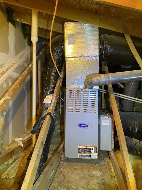 New Albany, OH - I installed a Carrier 80% 45,000 BTU Gas Furnace. I cycled the system to ensure functionality. System is operational upon departure.