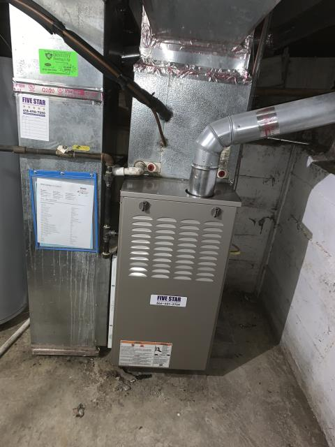 """Columbus, OH - I completed a half install of a Five Star 80% 45,000 BTU Gas  Furnace 3T 14"""". All equipment fully functional at the time of departure."""