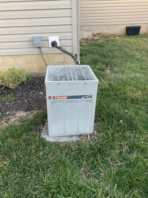 Blacklick, OH - I completed a half install of a Carrier 13 SEER 2 Ton Air Conditioning System. All equipment fully functional at the time of departure.