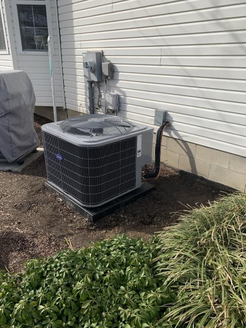 Lewis Center, OH - I completed a full install on a Carrier 96% 60,000 BTU Gas Furnace and a Carrier 16 SEER 3 Ton Air Conditioner. All equipment was fully functional upon departure.
