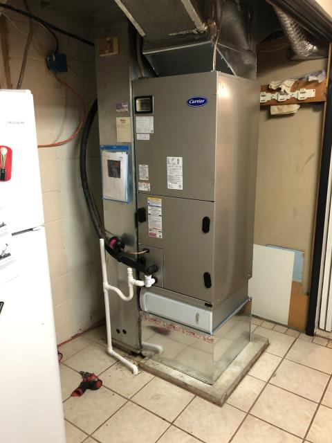 Reynoldsburg, OH - I completed a scheduled maintenance agreement for a heat pump. Customer stated back up heat in air handler was not coming on automatically, have to switch to emergency heat manually. Check thermostat, thermostat is bad.