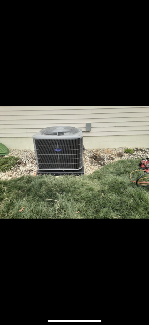 Lewis Center, OH - I completed a full install on a Carrier 80% 70,000 BTU Gas Furnace.  I also upgraded the Air conditioner to a Carrier 16 SEER 3 Ton Air Conditioner. All systems functional upon departure.