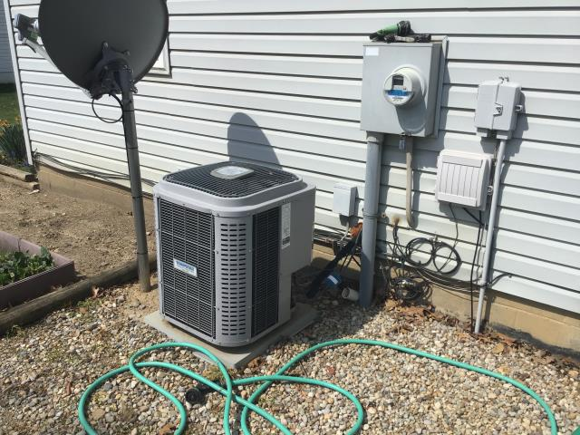 Groveport, OH - I installed a Carrier 80% 70,000 BTU Gas Furnace and a Five Star 13 SEER 2.5 Ton Air Conditioner. System is set and customer is ready for the cooling season.