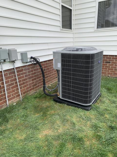 New Albany, OH - After removing the Trane Gas Furnace and Air Conditioner,  I installed a Carrier Infinity Series Gas Furnace and a 16 SEER 5 Ton Air Conditioner.  Cycled and monitored the system.  Operating normally at this time.  Included with the installation is a free 1 year service maintenance agreement.