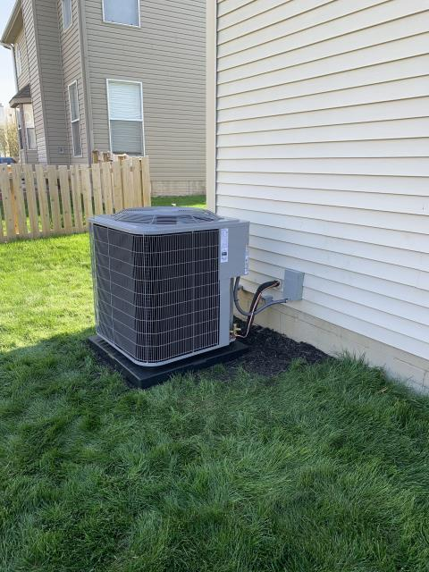Lewis Center, OH - After removing the Bryant Gas Furnace and Air Conditioner, I installed a Carrier 96% two-stage 80,000 BTU Gas Furnace and Carrier 16 SEER 3.5 Ton Air Conditioner.  Cycled and monitored the system.  Operating normally at this time.  Included with the installation is a free 1 year service maintenance agreement.