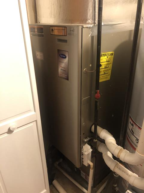 Upper Arlington, OH - I completed a diagnostic on a Carrier Gas Furnace. I determined that the blower motor is beginning to fail. Presented the customer with repair and replacement options.