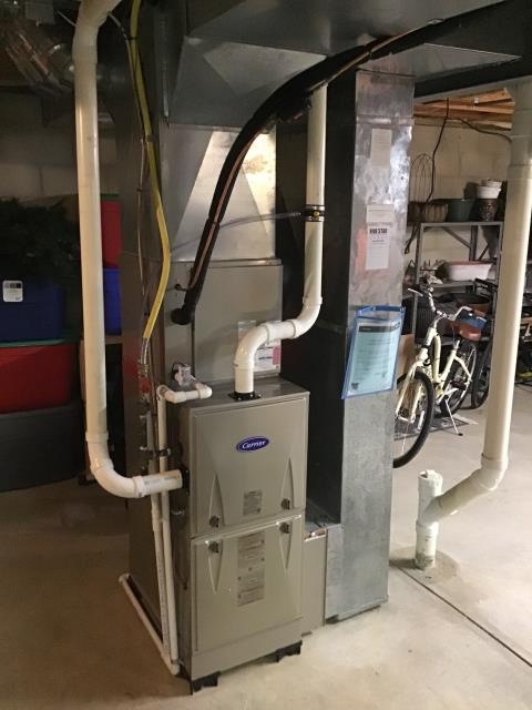 Canal Winchester, OH - I performed a complete install furnace/ac. Five Star 96% Gas Furnace (Up to 100,000 BTU) Carrier 13 SEER 3 Ton Air Conditioner. Everything operational upon departure.