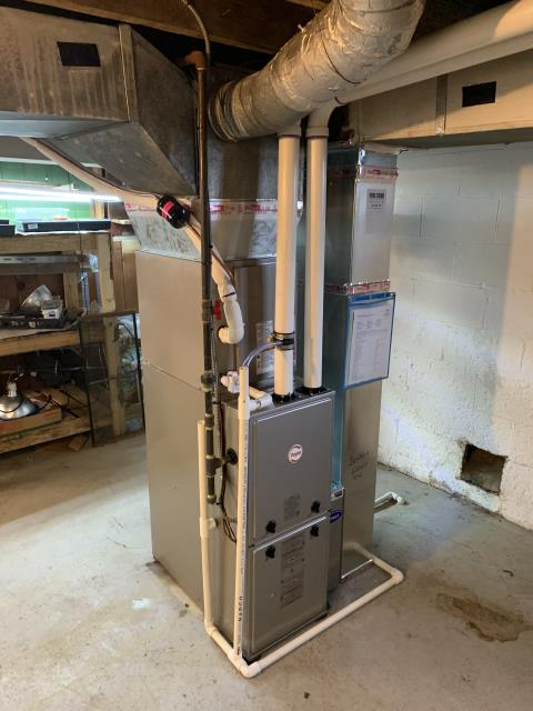 Columbus, OH - I completed a Full Install of a Carrier 96% Gas Furnace 59SC5 (Up to 100,000 BTU) Honeywell T6 Programmable Thermostat/Emerson 1F85U Carrier 16 SEER Air Conditioner 24ABC6 (Up to 3 ton). The system is operational upon departure.