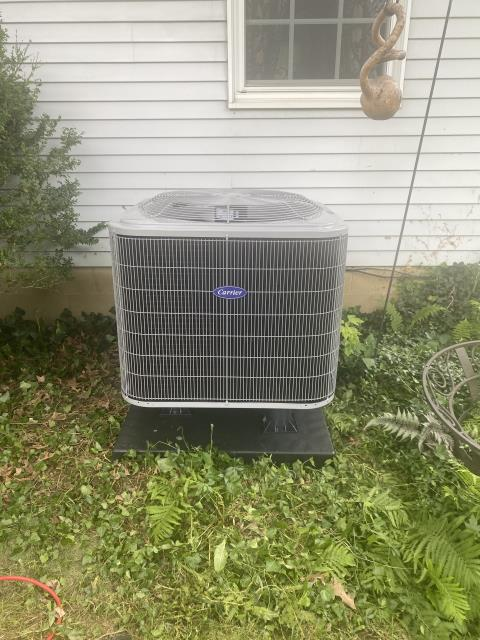 Pickerington, OH - I completed a Full Install of a Carrier Electric Furnace FX4D (Up to 3 ton) Honeywell T10 Programmable Thermostat; Carrier 14 SEER Heat Pump 25HCE4 (Up to 3 ton) The system is operational upon departure.