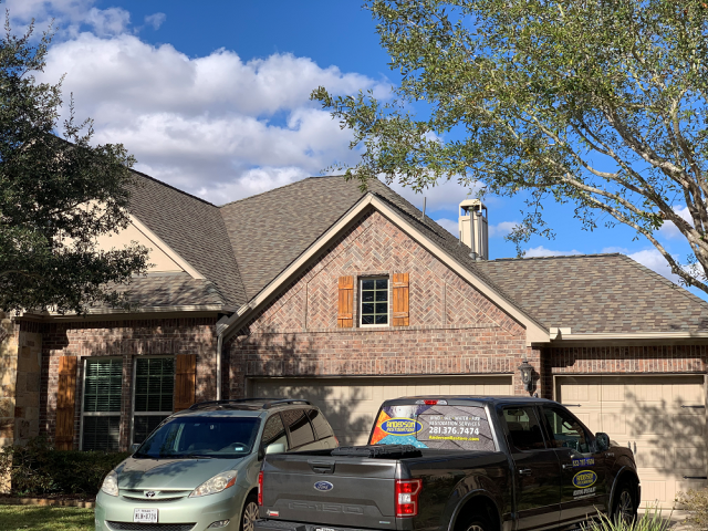 Katy, TX - Beautiful new roof for this growing family! Storms damaged it beyond repair and we were able to get them a fresh roof at an affordable cost!