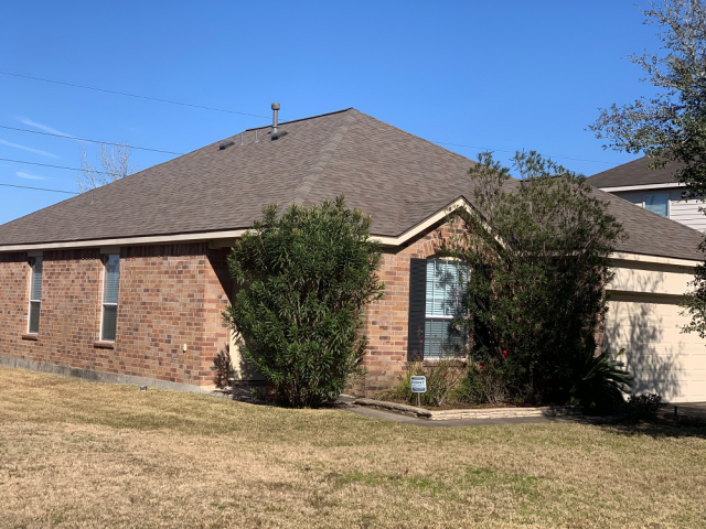 Spring, TX - Another free roof inspection lead to the suspected conclusion for this homeowner. He needed a roof replacement.