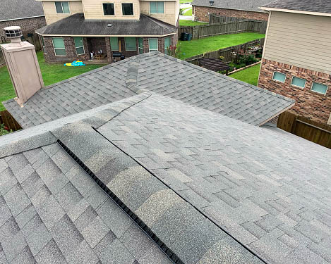 Tomball, TX - A homeowner in Tomball, TX called our team for a regular roof inspection. As it turns out they had hidden hail damage that needed to be addressed. This lead to a roof replacement for their home.