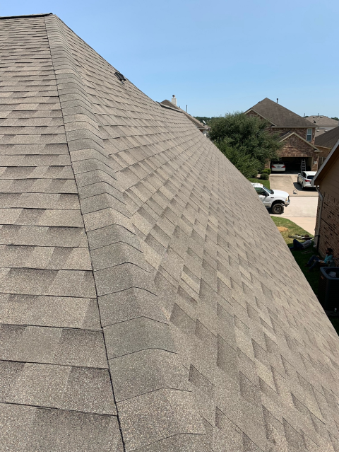 Tomball, TX - When this Tomball homeowner discovered hail damage on their roof, they called Anderson Restoration for a roof inspection. Malarkey in Vista AR solved the problem.