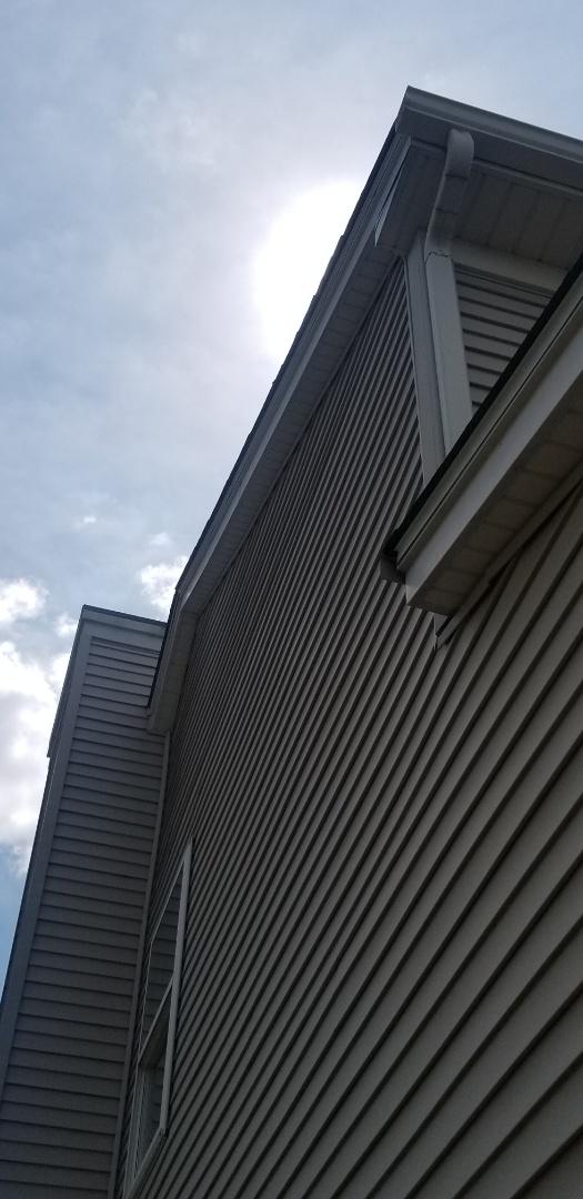 Aurora, IL - Fascia repair from hail damage