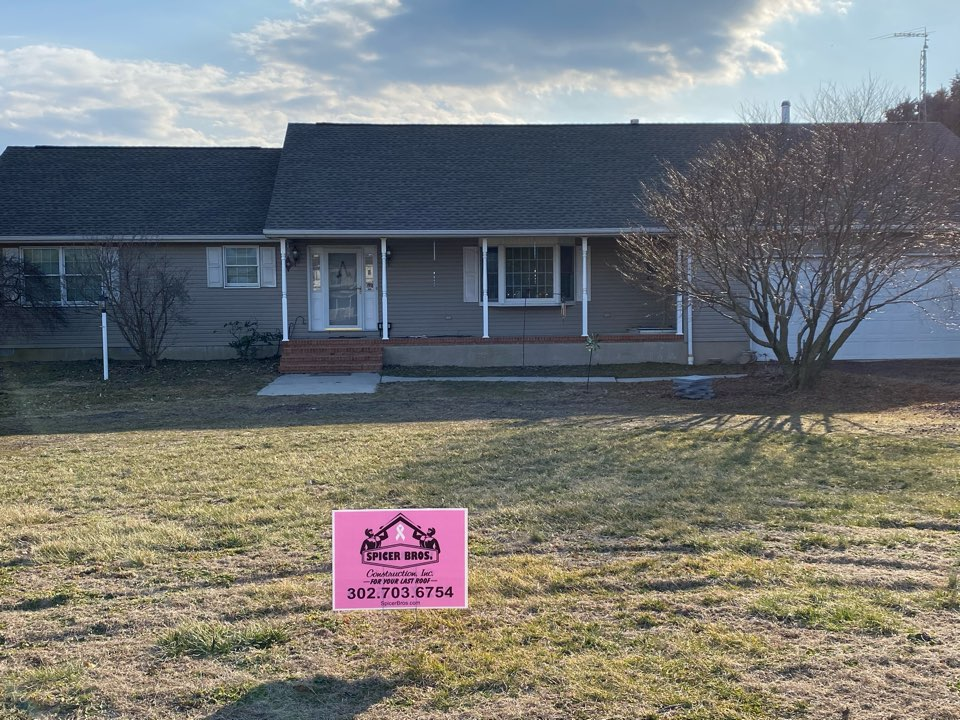 Bridgeville, DE - We installed brand new Timberline HD shingles Weather Wood in color and also installed a brand new C04 skylight