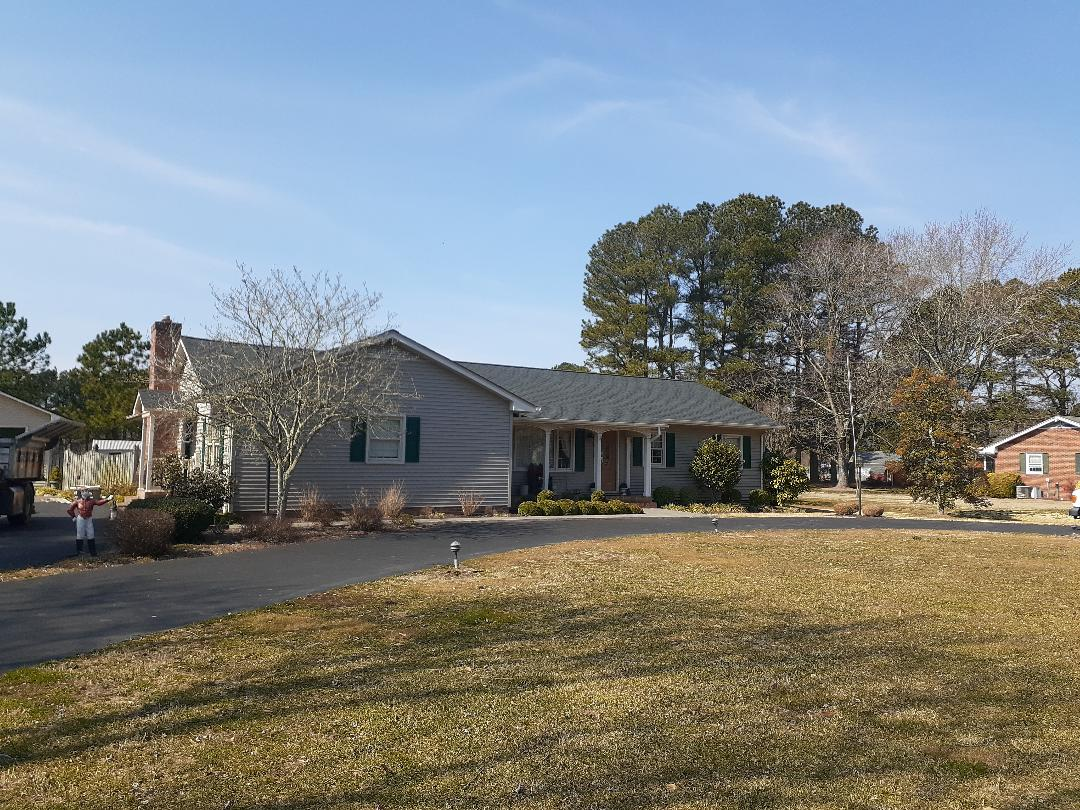 Princess Anne, MD - New roof installed using GAF charcoal timberline HDZ shingles
