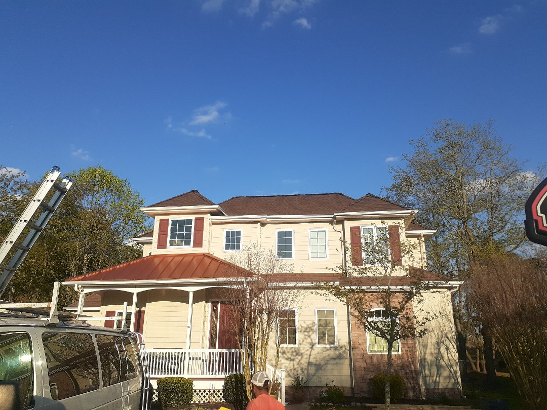 Ocean Pines, MD - New roof installed using GAF timberline HDZ hickory shingles