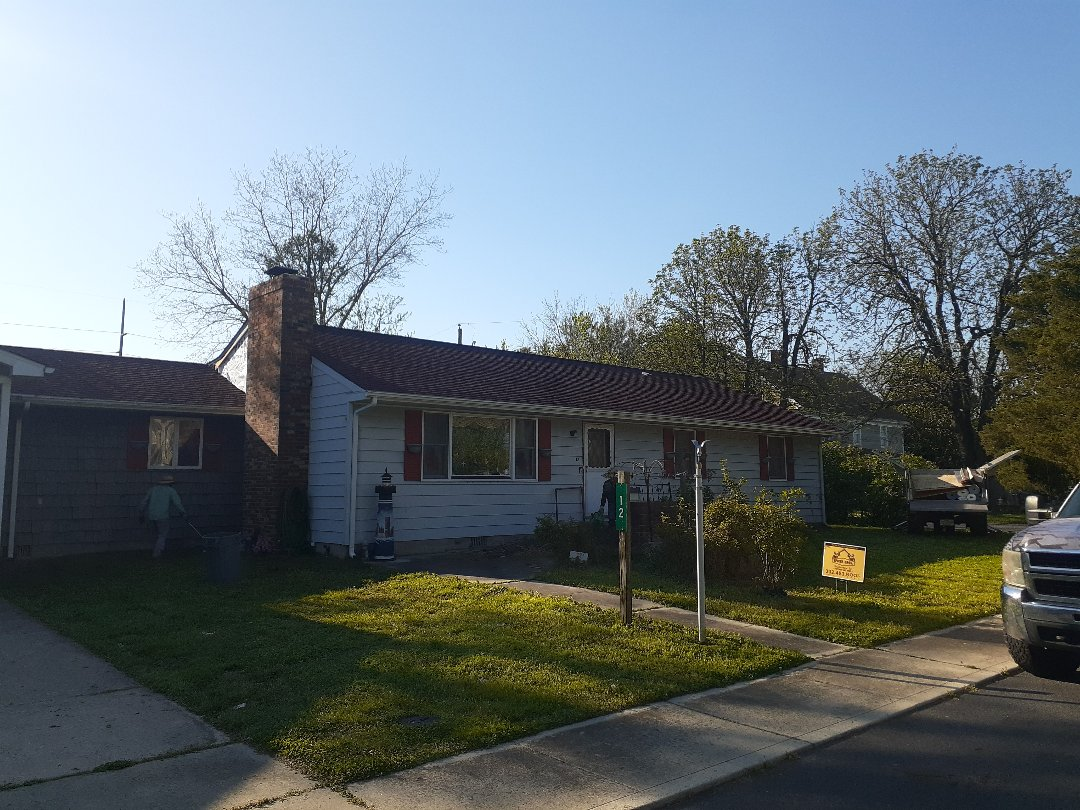 Greenwood, DE - New roof installed using GAF ultra timberline HD patriot red shingles
