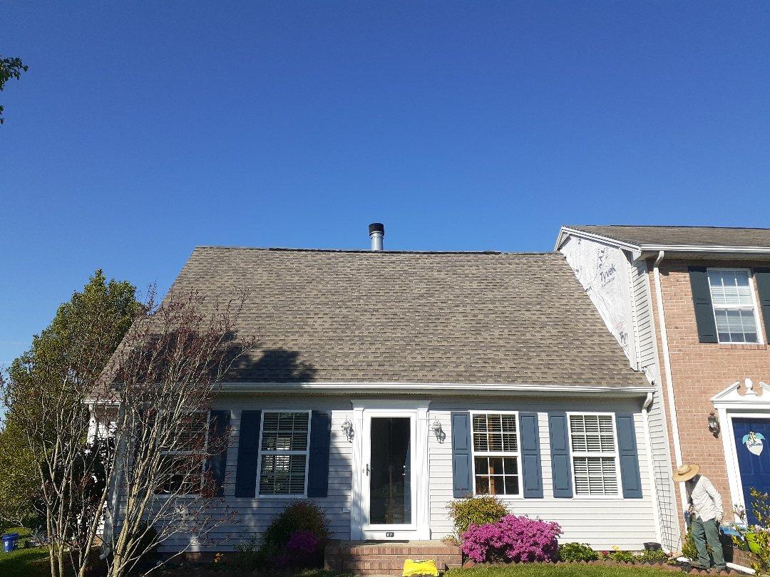 Salisbury, MD - New roof installed using GAF timberline HDZ weatherwood shingles