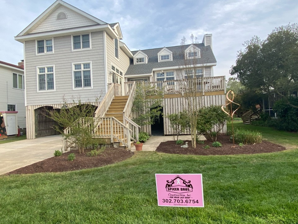Bethany Beach, DE - We just completed this house and installed brand new timberline hd shingle pewter grey in color and installed new a ridge with with GAF snow country