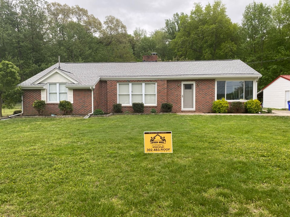 Greenwood, DE - We just finished this house. We replaced the old shingles and installed brand new Timberline HD Fox Hollow Grey in color. We also installed a intake pro on the lower section of the roof and installed a new ridge vent on the top.