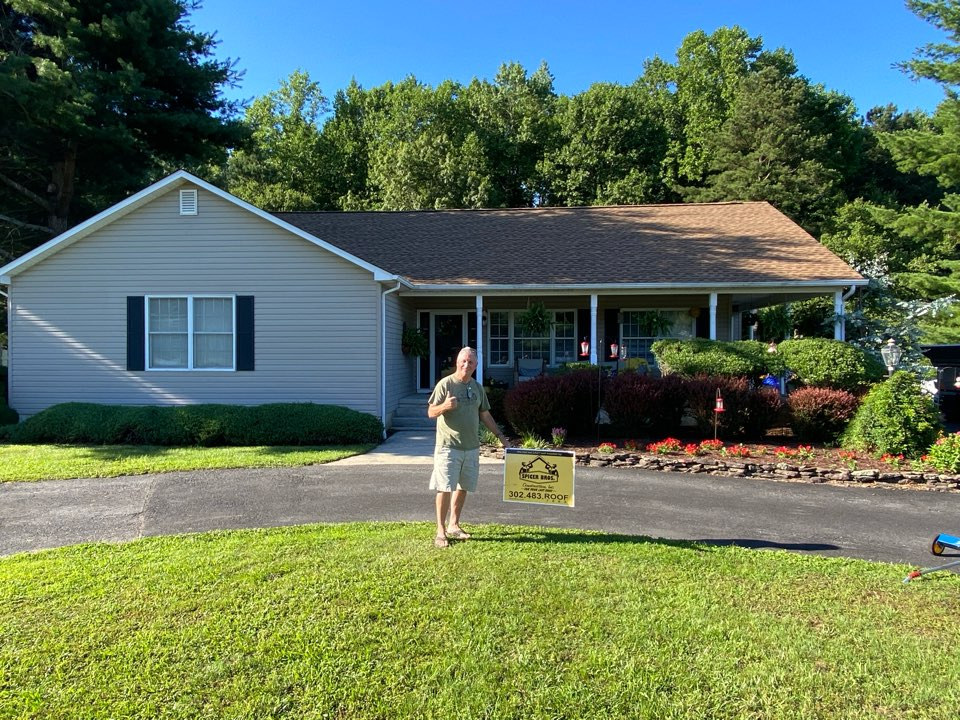 Georgetown, DE - We just finished replacing this house with brand new timberline Hd shingles shake wood in color and installed a new ridge vent as well