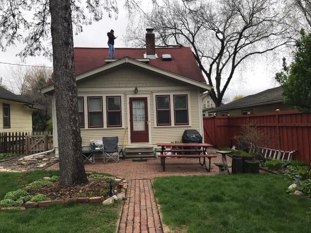Minneapolis, MN - This homeowner requested a free roof inspection. We did the roof inspection and an American Family Insurance representative found sufficient hail damage on the roof. We helped the homeowner file a claim with American Family. We met the insurance adjuster and he agreed there was enough damage. American Family paid for a full roof replacement. This homeowner chose Owens Corning Duration shingles, Terra Cotta in color. We replaced this roof on May 4th, 2017.