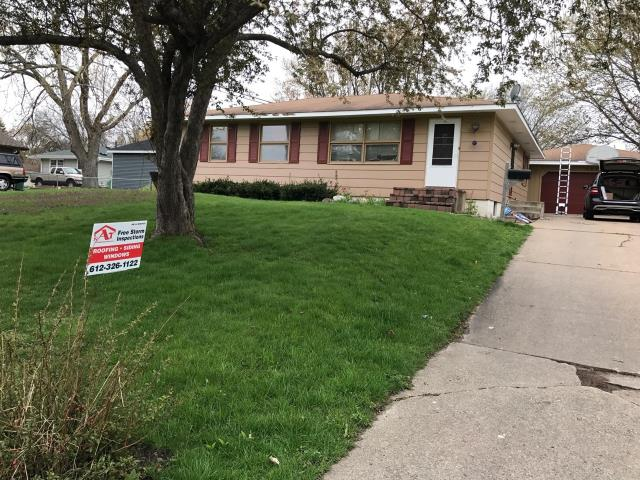Minneapolis, MN - This homeowner requested a free roof inspection. We did the roof inspection and a Safe-Co Insurance representative found sufficient hail damage on the roof. We helped the homeowner file a claim with Safe-Co. We met the insurance adjuster and he agreed there was enough damage. Safe-Co paid for a full roof replacement. This homeowner chose Owens Corning Duration shingles in a Brownwood color. We replaced this roof May 9th, 2017.
