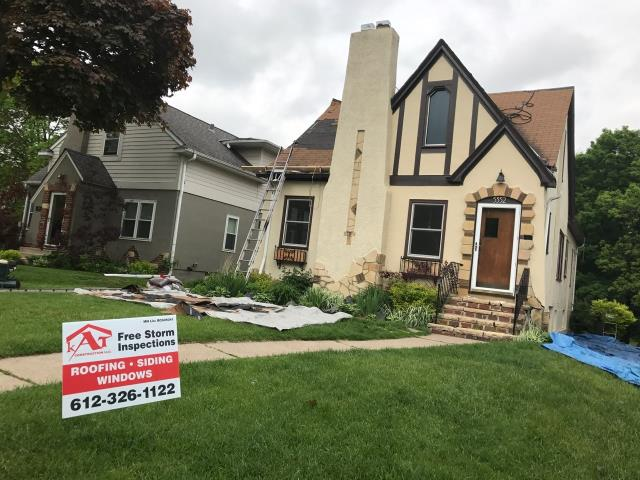 Minneapolis, MN - This homeowner requested a free roof inspection. We did the inspection and found sufficient hail damage on the roof. We helped the homeowner file a claim with their homeowner's insurance, American Family. We met with the adjuster and they agreed with our findings. American Family paid for a full roof replacement. This homeowner chose Tamko Heritage shingles, Black Walnut in color. We replaced this roof May 23rd, 2017. You may have hail damage and not even know! CALL KAT for your FREE, NO OBLIGATION, ROOF INSPECTION!!! It only takes 15-20 minutes to inspect and we tell you if you have the damage or not. We work with ALL insurance companies! CALL KAT Construction for your FREE ROOF INSPECTION TODAY!! 612-326-1122