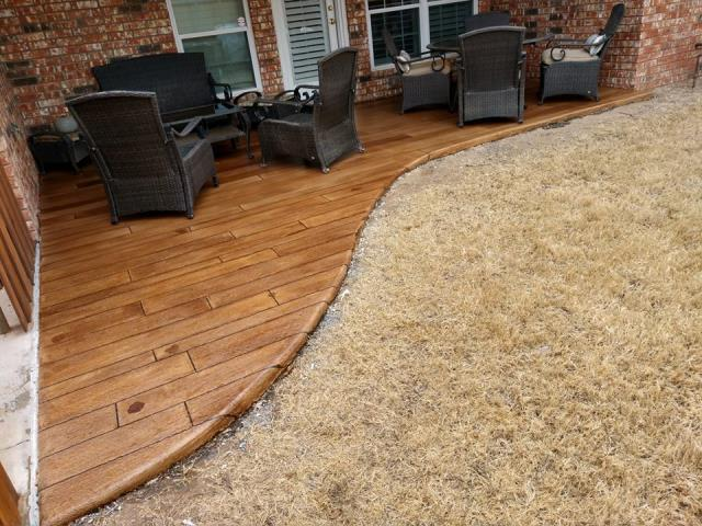 Our team is able to provide Rustic concrete wood coatings near you! Near Denver Colorado.