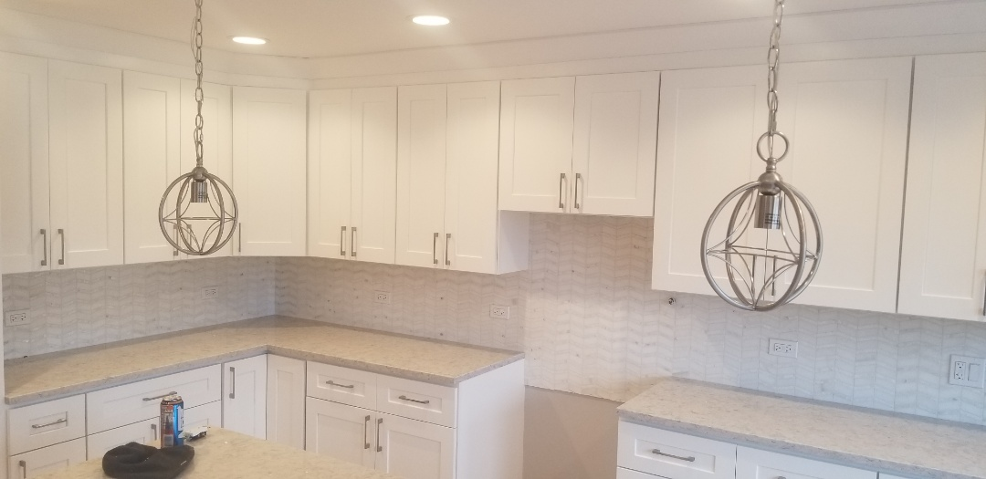Mount Prospect, IL - Wow!  This backsplash tile looks amazing!  One of my favorite kitchens to date in Mount Prospect...