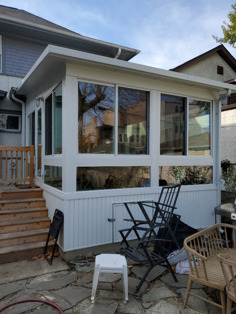 Itasca, IL - Finalized a new sunroom in Chicago