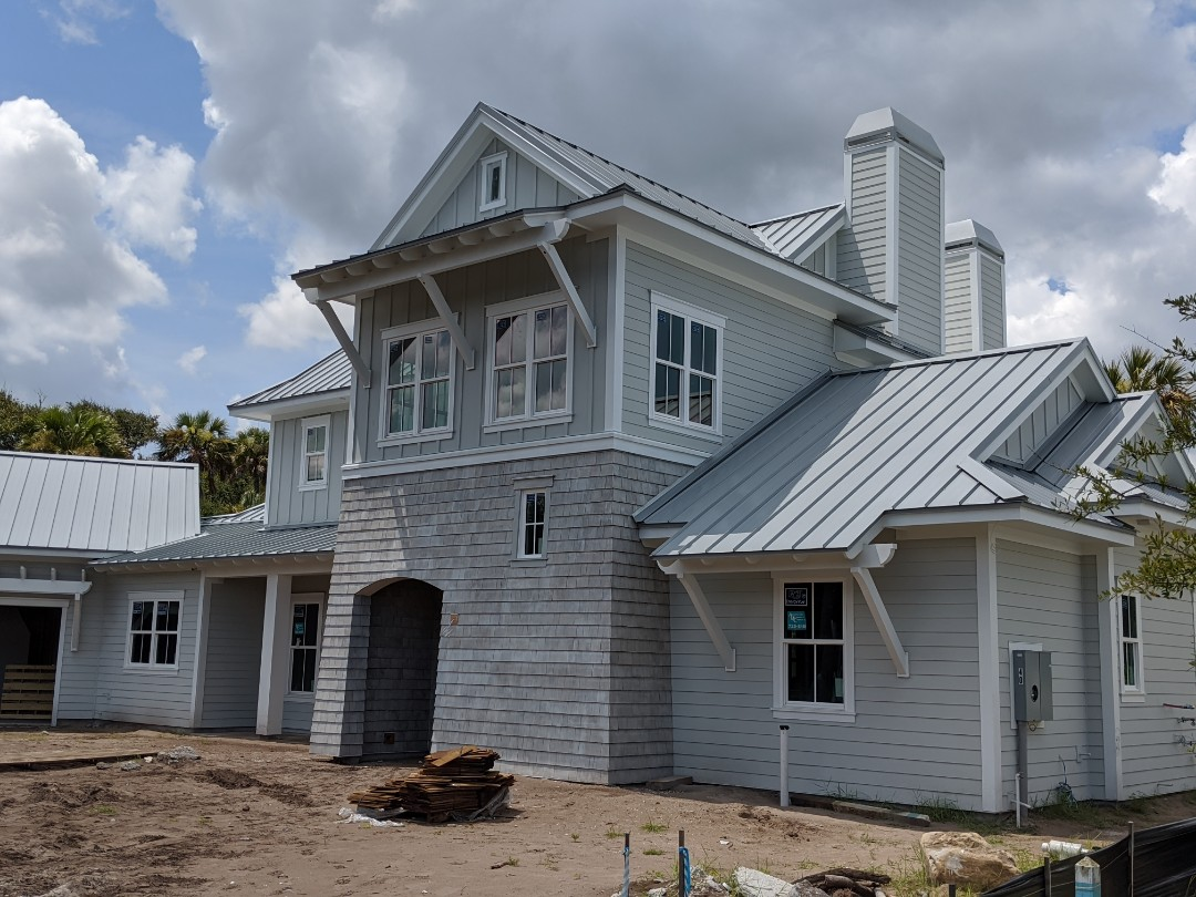 Ponte Vedra Beach, FL - Custom Roofing for Custom homes.  Standing seam .032 Aluminum roofing.