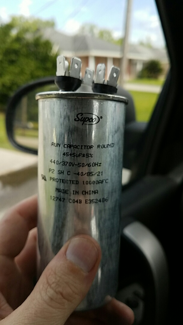 LaPlace, LA - Replaced a warranty support capacitor. This brand is horrible.
