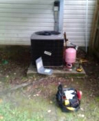 Madisonville, LA - Replacing a condenser coil on a York split system